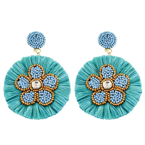 Flower Aqua Earring