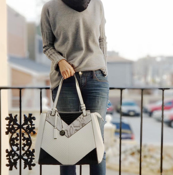 Galian White Hand Bag
