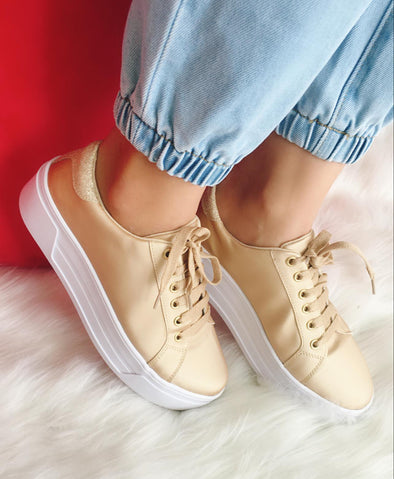 Ella Satin Sneakers