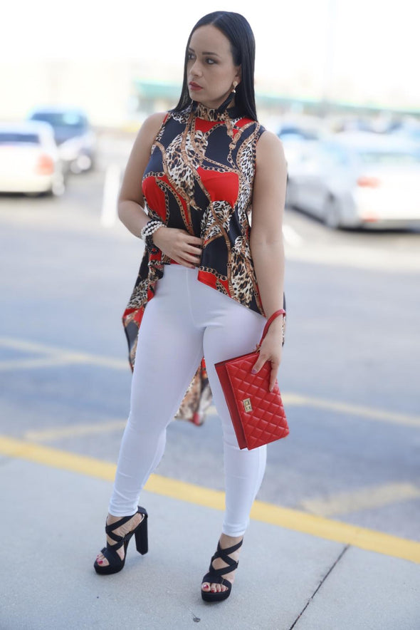 Catty Leopard Blouse