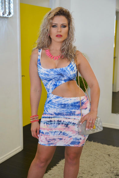 Tie-Dye Cutout Dress