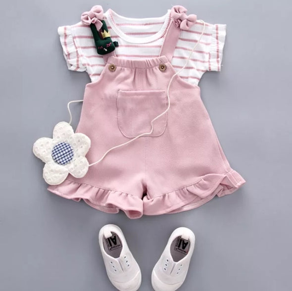 ROMPER AND SHIRT SET