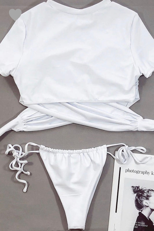 SWIMSUIT SHIRT BIKINI SET