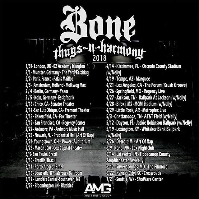 Bone Thugs n Harmony Tour Dates 2018