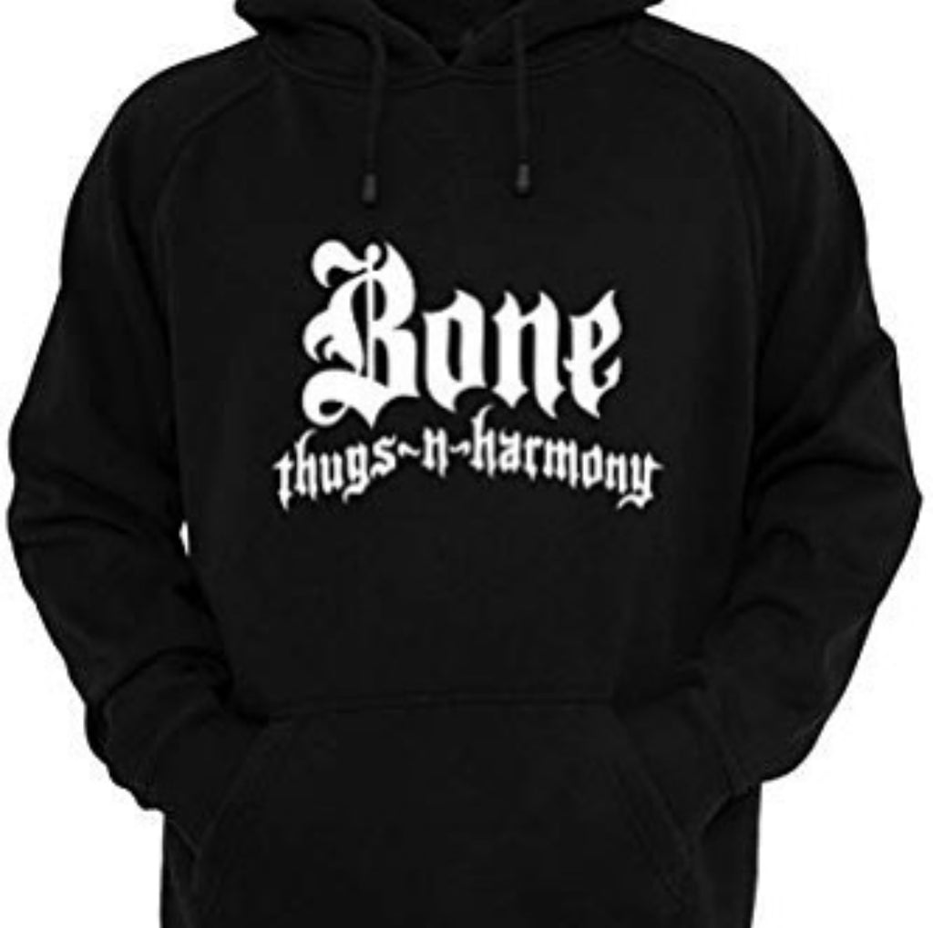 Bone Thugs n Harmony Black Hoodie White Logo