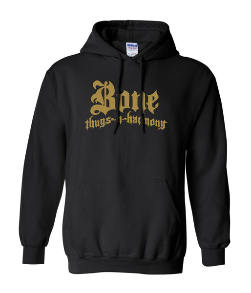 authentic bone thugs n harmony hoodie with gold logo official