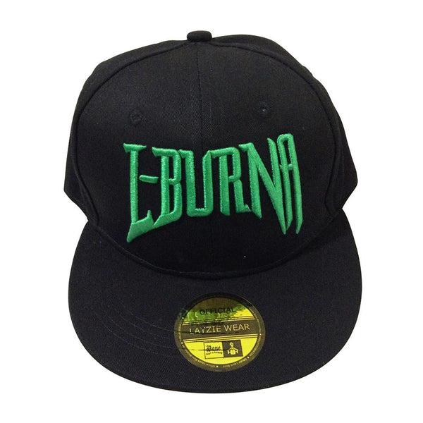 L-Burna Green Embroidered Snapback - LayzieGear.com