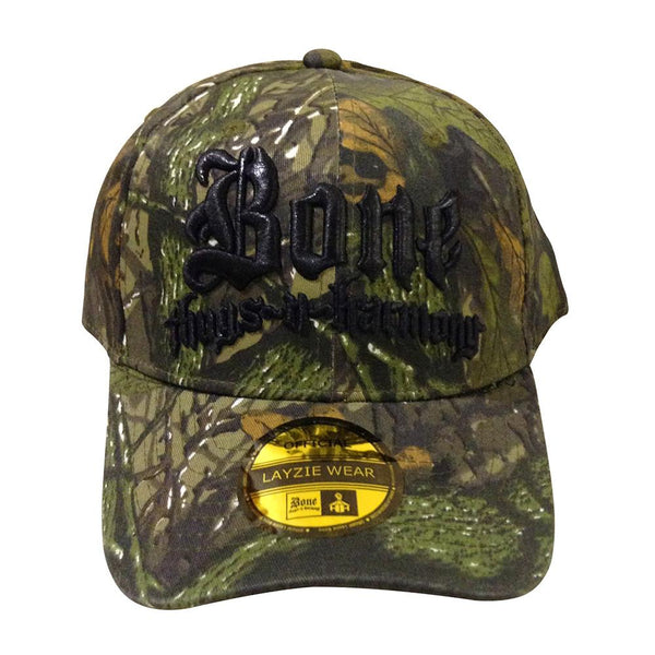 Bone Thugs n Harmony Camo Hat w/ Black Embroidery - LayzieGear.com