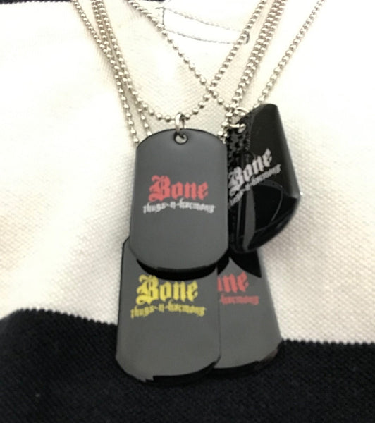SPECIAL (4pc) Bone Thugs n Harmony Dog Tag Set