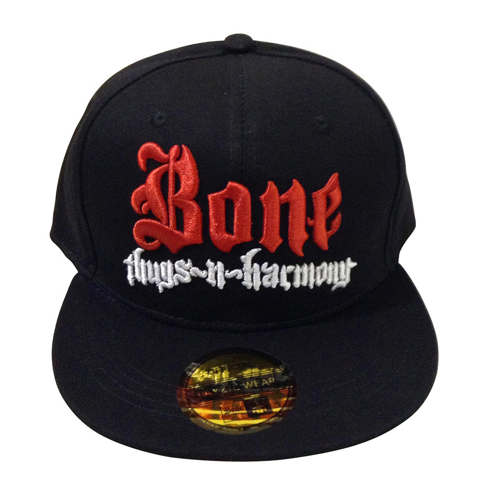 Red & White Bone Thugs n Harmony Black Snapback