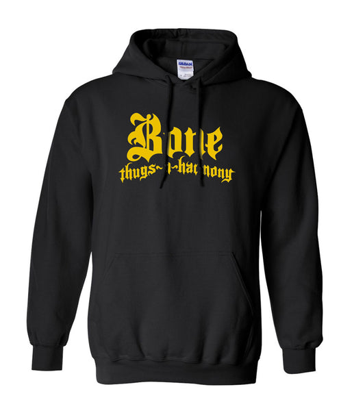 Bone Thugs n Harmony Hoodie Black w Yellow Logo