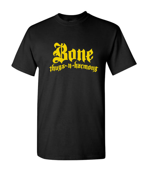 Bone Thugs n Harmony T-Shirt Black w Yellow Logo
