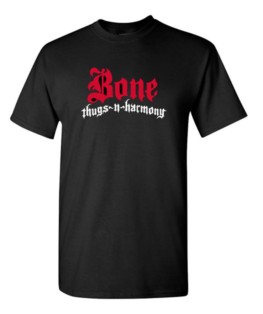 Authentic Bone Thugs n Harmony Black T-Shirt | Choose Color Logo