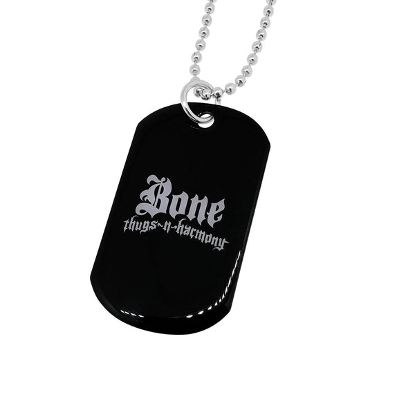 Bone Thugs n Harmony White Logo Dog Tag Jewelry