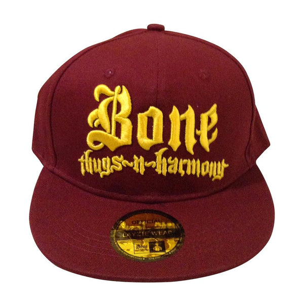 """Cleveland"" Bone Thugs n Harmony Burgundy/Gold Snapback btnh authentic"