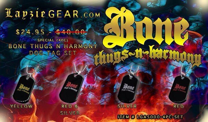 SPECIAL (4pc) Bone Thugs n Harmony Dog Tag Set - LayzieGear.com