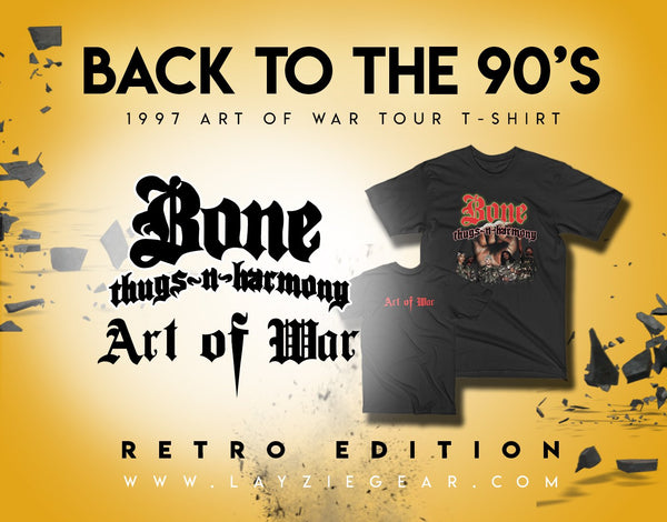 1997 Art of War Tour T-Shirt - Bone Thugs n Harmony - LayzieGear.com