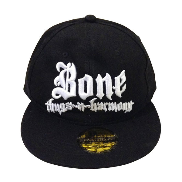Bone Thugs n Harmony White Logo Black Snapback Hat Official Authentic