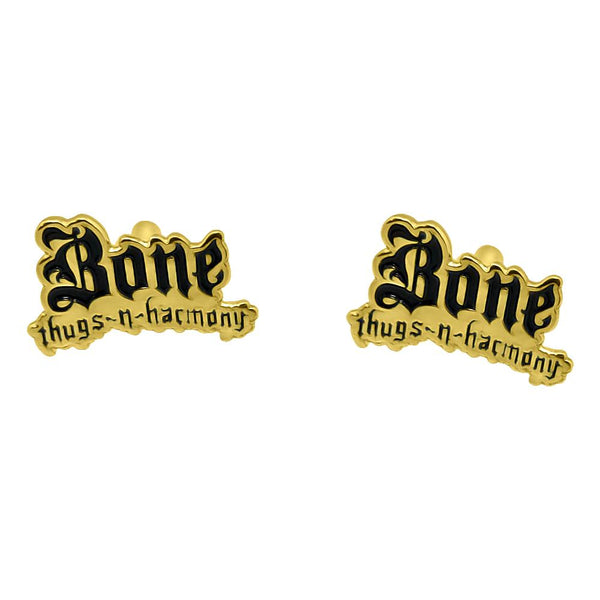 Bone Thugs n Harmony Cufflinks Black / Gold - LayzieGear.com