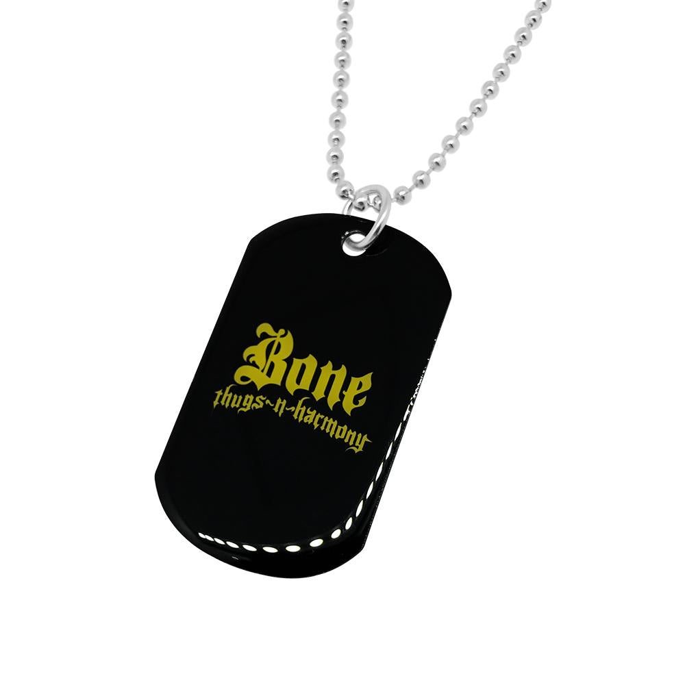 Bone Thugs n Harmony Yellow Logo Dog Tag - LayzieGear.com