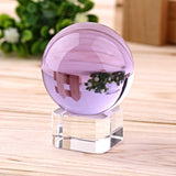 Healing Purple Crystal Sphere