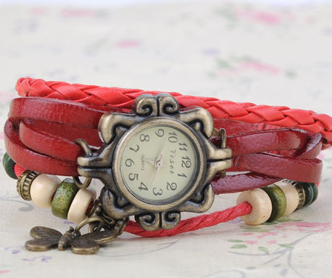 Retro Weave Wrist Watch