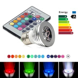Colorful Remote Controlled  Light Bulb