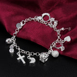 Beautiful 13 Pendant Bracelet