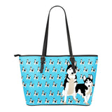 Husky Lovers Small Leather Bag