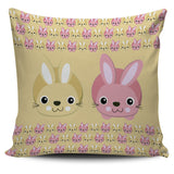 Rabbit Lovers Pillow Cover