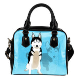 Husky Lovers Shoulder Handbag