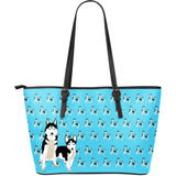 Husky Lovers Large Leather Bag