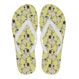 Pug Lovers Flip Flops (Women)