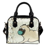 Pug Lovers Shoulder Handbag