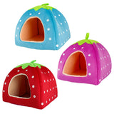 Cozy Strawberry Pet Bed House