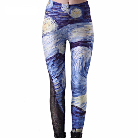 Starry Night Canvas Leggings