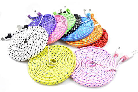 Colorful Braided Cable Charger for iPhone 5S/SE/6/6S/6S Plus/7/7Plus