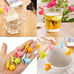 5 Silicone Snails Tea Bag Support
