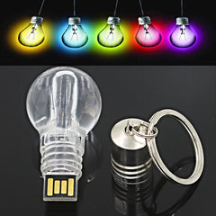Light Bulb Memory Stick Keychain