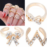 Set of 7 Crystal Sundry Knuckle Ring