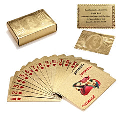 Authentic Gold Plated Playing Cards