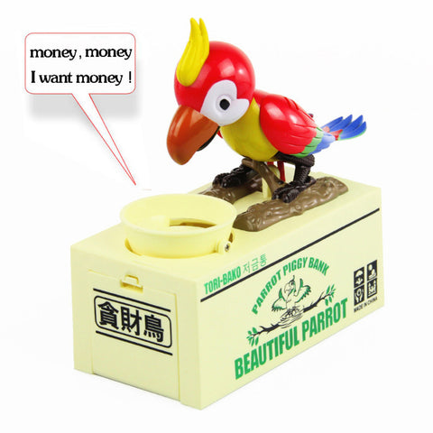 Adorable Parrot Coin Bank