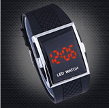 Slick Red Light LED Watch
