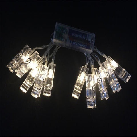 Stringed Lights Photo Clip