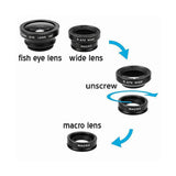 3 in 1 Clip-on Camera Lens