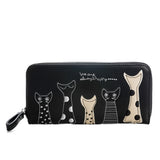 Cat Design Leather Wallet
