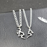 Buck And Doe Heart Necklace