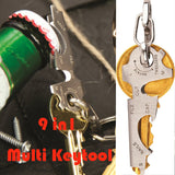 Multitool and Twistick Corkscrew Keychain