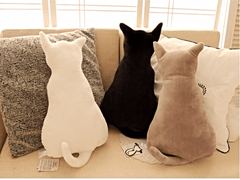 Adorable Plush Silhouette Cat Pillow