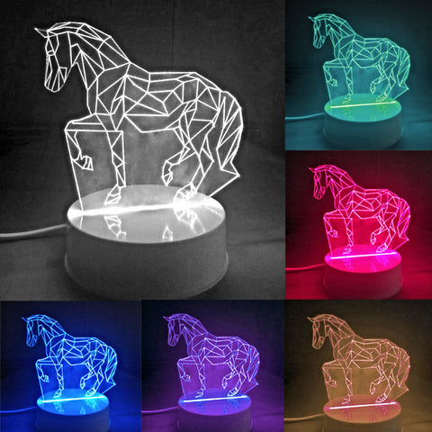 3D Equus Caballus Led Lamp